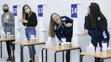 In pictures: University sets up mass testing centre before students head home for Christmas