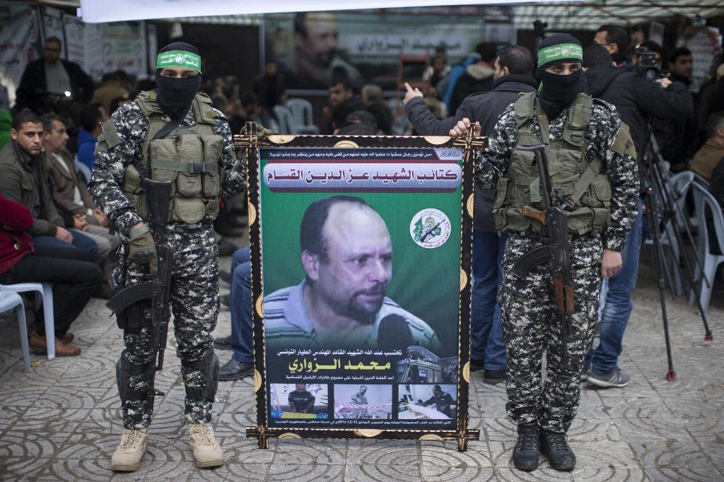 The extradition of a Bosnian suspect in the investigation of the death of Hamas leader and engineer Mohamed Zaouari, pictured on a banner during his funeral in December 2016, was denied by a top Croatian court