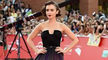Lily Collins Is a Vision on the Red Carpet at the Rome Film Festival