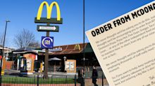 Fast food restaurant's shocking open letter to McDonald's and KFC customers