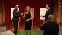 Jennifer Aniston dessine pour Lenny Kravitz