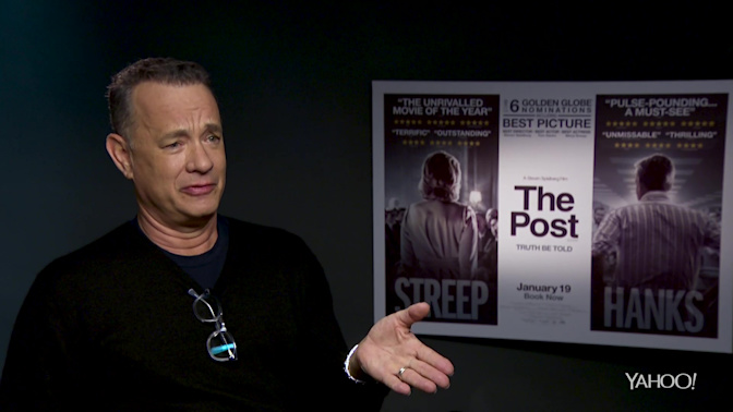 'The Post' interview: Tom Hanks on who is making movies for Trump voters