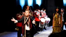 James Corden Cracks Up the Audience at the Burberry Show By Marching Down the Runway