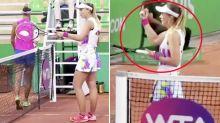 """""""Maldita"""": la horrible disputa de unas tenistas tras el partido"""