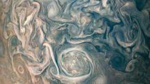 ¿Arte abstracto o el tormentoso Júpiter en primer plano?