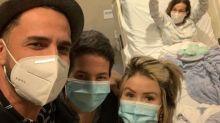 "Latino visita Claudia Rodrigues no hospital: ""Muito especial"""