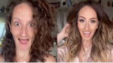 EN VIDEO   El cambio radical de una tiktoker con y sin maquillaje