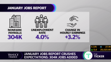 January jobs report crushes expectations after partial government shutdown