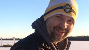 Scott details fall through ice into frozen lake