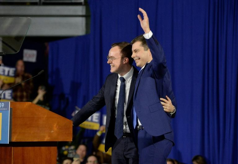 US presidential candidate Pete Buttigieg and his husband Chasten Buttigieg