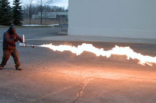 This personal flamethrower is somehow legal in 49 states