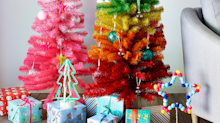 Argos jumps on rainbow Christmas tree trend with 5ft option