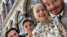 David Beckham Shares Behind-the-Scenes Moments of Kids at Wife Victoria's London Fashion Show