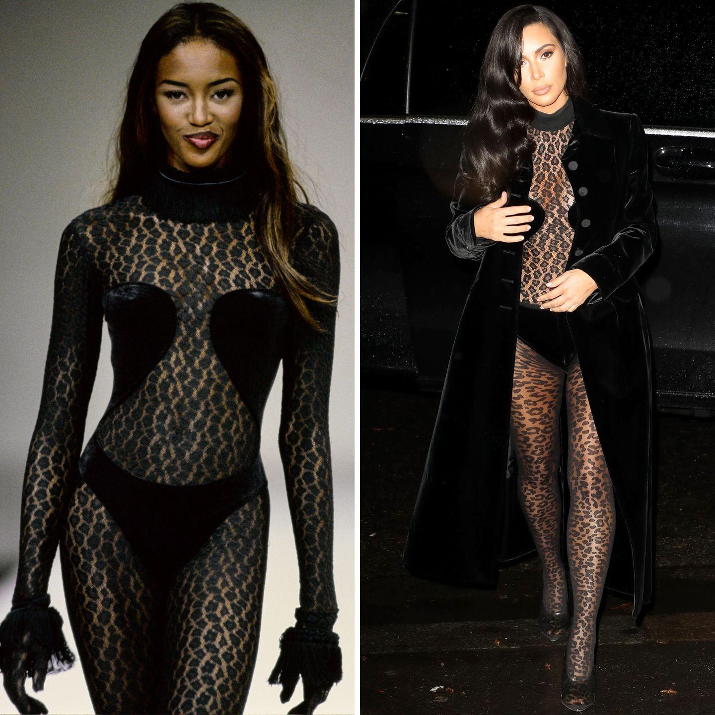 Naomi Campbell Stole the Show at Azzedine Alaïa Couture in ...  Naomi Campbell Alaia Dress
