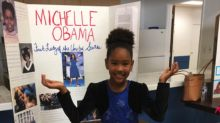 This Girl Dressed Up As Michelle Obama For School, And Michelle Loved It