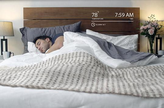 Smart mattress cover can control the temperature and the coffeemaker
