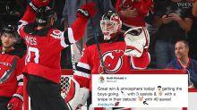 Devils' Keith Kinkaid admits he has an emoji problem