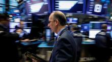 Dow, S&P 500 fall as dollar rises, yield curve flat