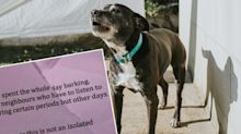 'Coward': Man hits out at neighbour's 'nasty' note about dog