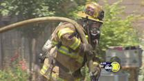 Barbecue flair-up causes Fresno County house fire