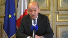 """""""La France, c'est la famille du Liban"""": Le Drian affiche sa solidarité après le drame de Beyrouth"""