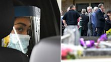 'I tried not to look': Emotional daughter attends funeral in hazmat suit from afar