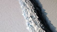 NASA photo reveals a startling 300-foot-wide rift in Antarctic Ice Shelf