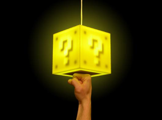 Touch-sensitive Mario coin block lamp lights up our hearts