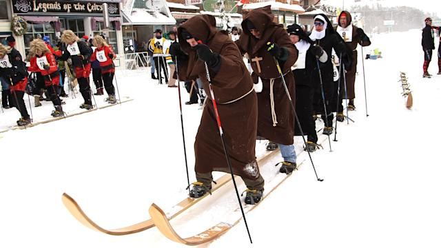 The Giant Ski Race in Hayward, Wisconsin