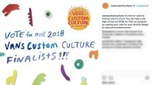 Vans puts 2018 'Custom Culture' competition to the vote