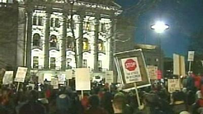 Estimated 40 Thousand Protesters Gathered At Capitol