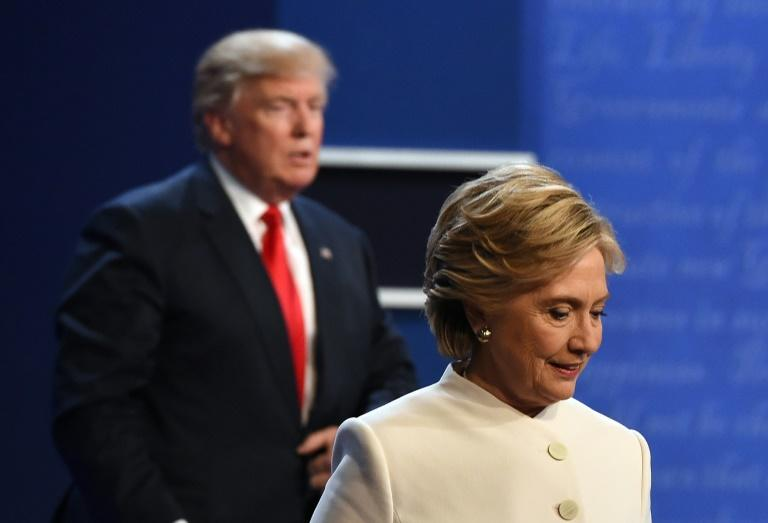 Democrat Hillary Clinton said Donald Trump made her physically uncomfortable on the debate stage