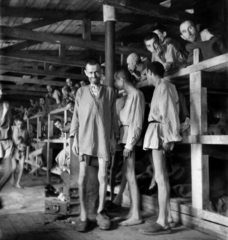 Photographic evidence of the concentration camp horrors was widely disseminated as early as 1945 (AFP Photo/ERIC SCHWAB)