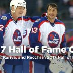 Selanne, Kariya, Andreychuk and Recchi in 2017 Hall of Fame class