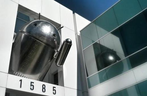 Did Google make its latest Android statue out of chrome for a reason?