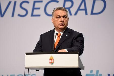 Prime Minister of Hungary Orban attends a news conference in Budapest