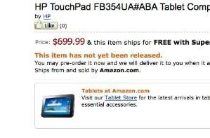 HP TouchPad 4G surfaces for pre-order on Amazon, wearing $700 price tag
