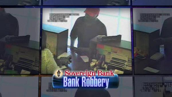 Surveillance shows Burlington bank robber