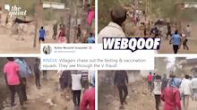 Video of Villagers Chasing Cops Shared With False Anti-Vaxx Spin