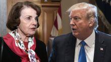 Trump slams 'Sneaky' Dianne Feinstein for releasing testimony in Russian dossier probe