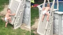 Terrifying video shows how easy it is for toddler to fall in backyard pool