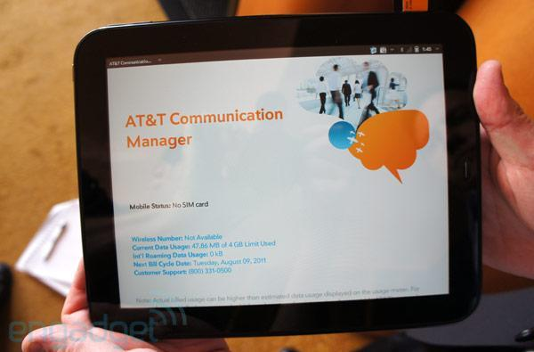 HP TouchPad 4G for AT&T hands-on (video)