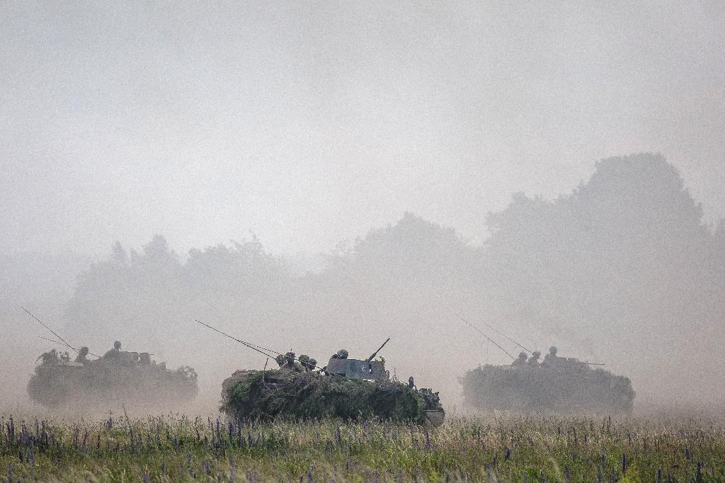 NATO troops take part in military exercises in June 2017 in Orzysz, Poland (AFP Photo/)