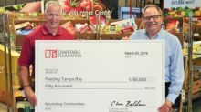 BJ's Charitable Foundation Donates $50,000 to Feeding Tampa Bay to Celebrate New Club in Clearwater, Florida