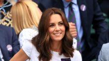 Duchess of Cambridge attends Wimbledon finals in Catherine Walker florals
