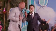 Dwayne Johnson and Lin-Manuel Miranda Duet at 'Moana' World Premiere