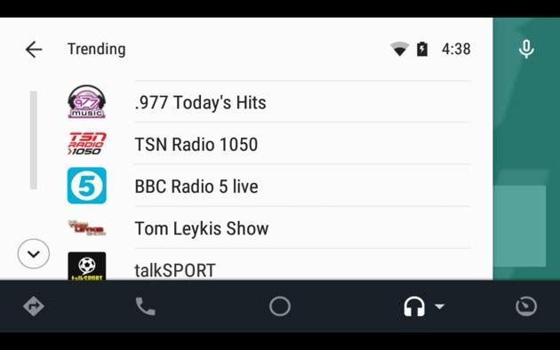 TuneIn brings internet radio to your Android Auto-ready car