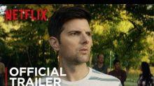 Adam Scott's stepson is literally the Antichrist in the trailer for 'Little Evil'
