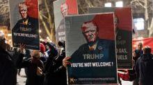 Gut 1000 Menschen demonstrieren in Zürich gegen Trump