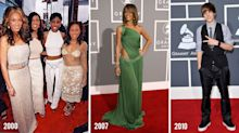 Then vs. now: What this year's Grammy nominees wore to their first Grammy Awards